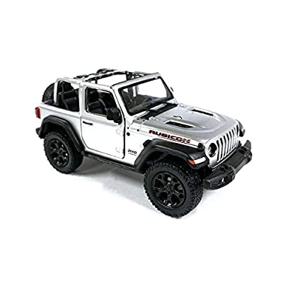 HCK Jeep Wrangler Rubicon 4x4 Convertible Off Road Exploration Diecast Model Toy Car Silver: Toys & Games