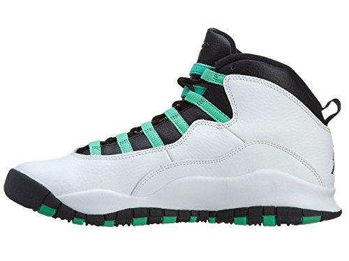 Ragazze Nike Air Jordan 10 Retro 30 Gg Verde Scarpe Da Basket - 705180 118 Bianco / Verde-nero-infrarosso 23