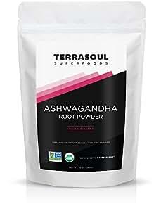 Terrasoul Superfoods Ashwagandha Root Powder (Organic), 10-ounce