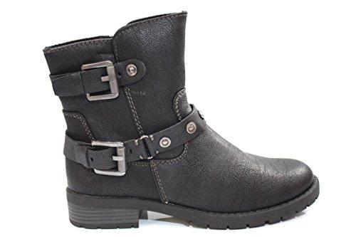 Marco Tozzi Biker Boots Synthetik 2-25419-25 Black Antic 002