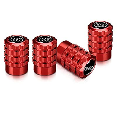 Baoxijie 4Pcs Metal Car Wheel Tire Valve Stem Caps Suit for Audi S Line S3 S4 S5 S6 S7 S8 A1 A3 RS3 A4 A5 A6 A7 RS7 A8 Q3 Q5 Q7 R8 Valve Caps(red): Automotive