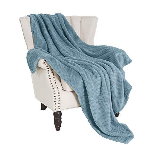 Exclusivo Mezcla Waffle Flannel Fleece Velvet Plush Large Throw Blanket-