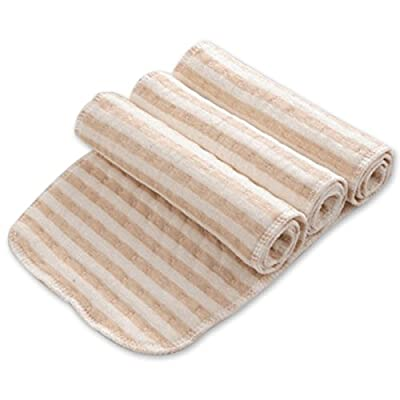 Poliking Baby's Natural Organic Cotton Ruseable Waterproof Urine Pad with 3 Pieces of Diaper
