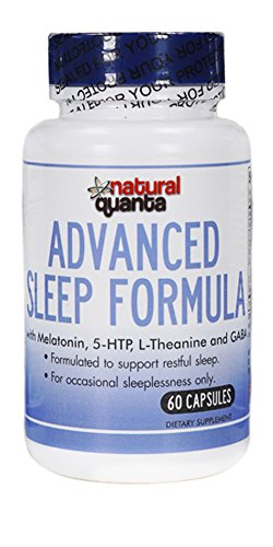 Advanced Sleep Formula with Melatonin, 5-HTP, L-Theanine and GABA  60 Capsules