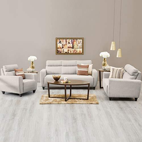 Home Centre Emily Polyester 3+2+1 Sofa Set Beige