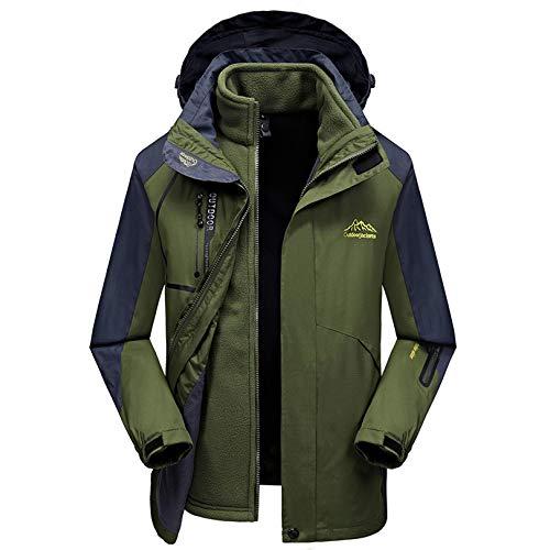 De Extraíble Montaña Hombre Chaqueta Con Capucha Prueba Para Caliente A Impermeable Escalada Chaqueta Viento Ski 1 En Coat LDZY Green De De 3 Antimanchas RqUZWHA