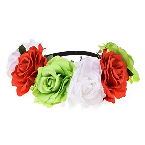 June Bloomy Rose Floral Crown Garland Flower Headband