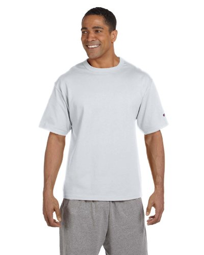 - Champion 7 oz Cotton Heritage Jersey T-Shirt in Silver - XXX-Large