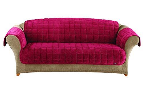 Sure Fit Deluxe Pet Cover  - Sofa Slipcover  - Burgundy (SF39458) (Slipcover Burgundy)