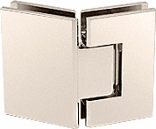 CRL Geneva 345 Series Polished Nickel Adjustable 135° Glass-to-Glass ()