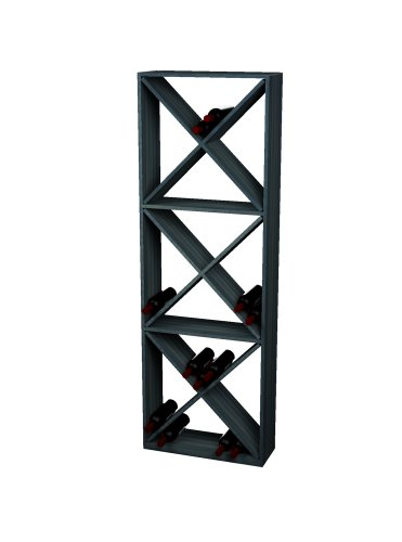 - Wine Cellar Innovations Rustic Pine Solid Diamond Cube Wine Rack for 132 Wine Bottles, Midnight Black Stained