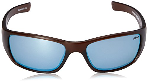 d858ee245f1 Revo Heading RE 4058 02 BL Polarized Rectangular Sunglasses ...