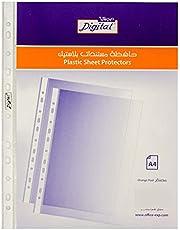 Digital A4 Peeled Plastic Sheet Protectors, Transparent - 50 Pieces