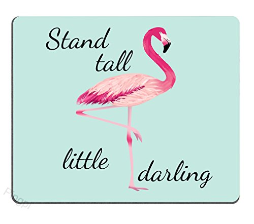 Stand Tall Little Darling Watercolor Flamingo Motivational Sign Inspirational Quote Personality Desings Gaming Mouse Pad