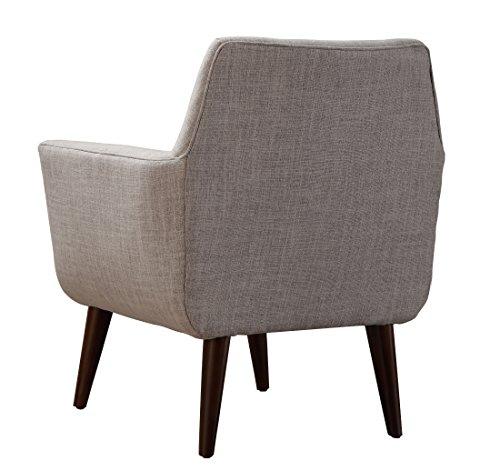 Farmhouse Accent Chairs TOV Furniture Clyde Collection Mid Century Upholstered Tufted Living Room Accent Chair, Beige farmhouse accent chairs