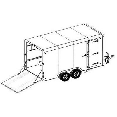 Covered Cargo Tandem Axle Trailer Blueprints ()