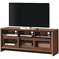 Techni Mobili Modern TV for Up To 65 Stand with Storage, Hickory