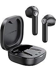 SOUNDPEATS słuchawki Bluetooth TrueAir2 słuchawki Bluetooth V5.2 bezprzewodowe słuchawki douszne z Qualcomm QCC3040, podwójny mikrofon i redukcja szumów CVC, kodek aptX, Łącznie 25 godzin (czarny )