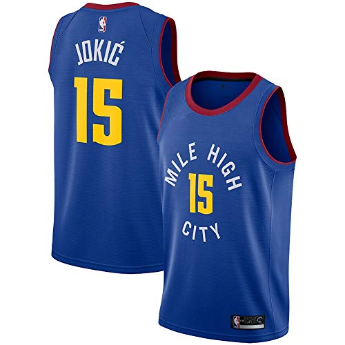 NO.15_Nikola_Jokic_Denver_Nuggets_Blue Swingman Jersey - Statement Edition-Men's - Jersey Blue Nuggets Denver