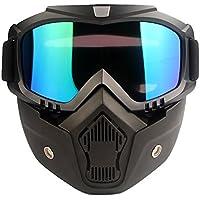 【Ludus Felix】サバゲー ゴーグル マスク フェイスガード フェイスマスク フルフェイス サバイバルゲーム 取り外し可能 サバゲー装備(カラフル)