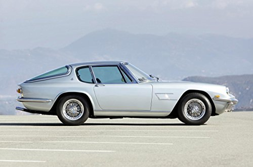 Quality Prints - Laminated 36x24 Vibrant Durable Photo Poster - 1967-70 Maserati Mistral 4000 Coupe
