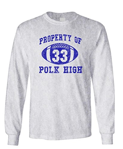 POLK HIGH - Funny BUNDY Football Champ 33 - Long Sleeved Tee, XL, - Al Christmas Bundy