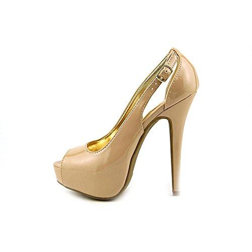 Materiaal Meisjes Womens Havic Peep Toe Klassieke Pumps Goud Glitter
