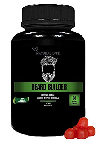 Beard Builder Gummies - Grow a Thicker, Fuller Beard - Beard Growth Formula for Men with biotin, B12, Along with Many Other Beard Building Formulas with Vitamins and nutrients for That Thick Beard