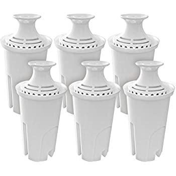 Fette Filter - Pack of 6 Water Replacement Filters Compatible with Standard Brita Water Pitchers