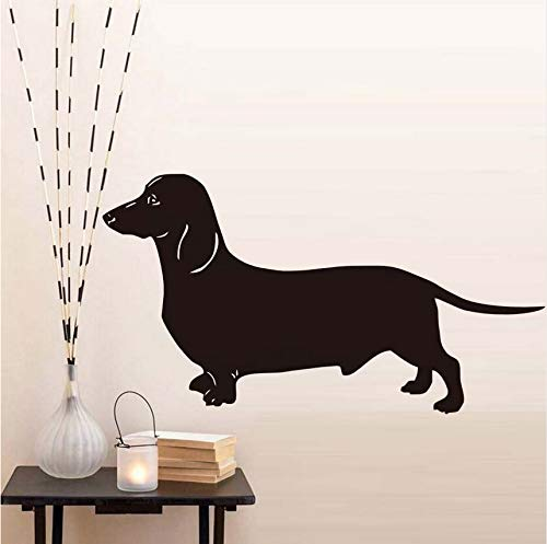 (hwhz 43 X 79 cm Most Popular Dachshund Dog Wall Stickers for Kids Room Vinyl Removable Animal Wallpaper Decals Home Decoration)
