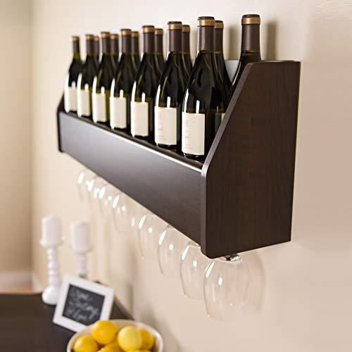 8 bottle wall mounted wine rack - 6