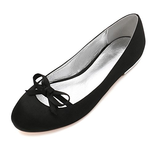 Partido Las Mujer Zapatos Prom Satin 22 de de Bowknot Boda de Nupcial Para YC L del Boda Black Señoras Zapatos La Corte 5049 Talón wWqOXFBTz