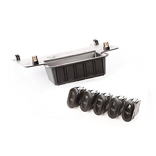 Rugged Ridge 17235.73 Etched Lower 5 Switch Panel Kit (11-18 Jeep Wrangler JK) ()