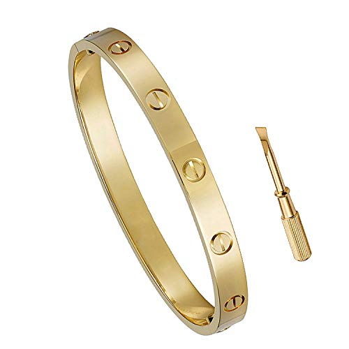 FHMZ Titanium Steel Love Bracelet with Screwdriver Can Wear in Shower ()