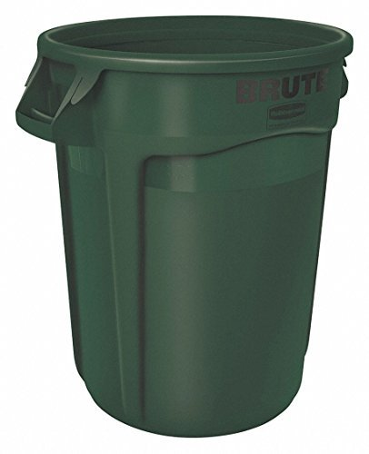 Rubbermaid Commercial FG263200DGRN Products BRUTE Trash Can, Green,, 32 gal Capacity