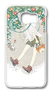 Brian114 Case, S6 Case, Samsung Galaxy S6 Case Cover, Comic Girls 2 Retro Protective Hard PC Back Case for S6 ( white )