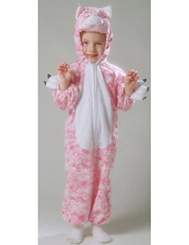 Pink Kitty Plush Costume: Girls Toddler Size (Pink Kitty Girls Costume)