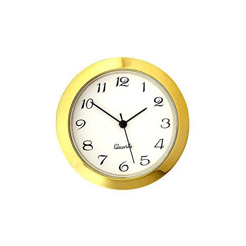 Small Decorator Clock Fitting, Gold Trim