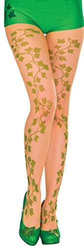 Rubie's Women's Dc Comics Poison Ivy Tights, Green, One Size