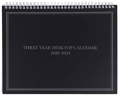 3-Year Calendar Planner - 2019-2021 Monthly Schedule Organizer Desktop Flip Calendar with Tabs, Top Spiral Bound, 3 Year Agenda, 11 x 8.5 inches