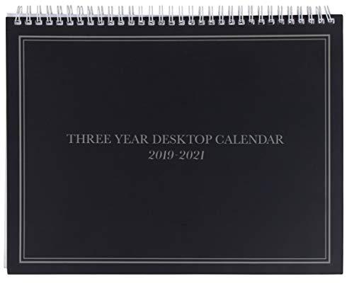 (3-Year Calendar Planner - 2019-2021 Monthly Schedule Organizer Desktop Flip Calendar with Tabs, Top Spiral Bound, 3 Year Agenda, 11 x 8.5)