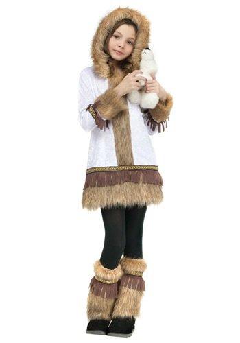 [Eskimo Child Costume - Large] (Kid Eskimo Costume)