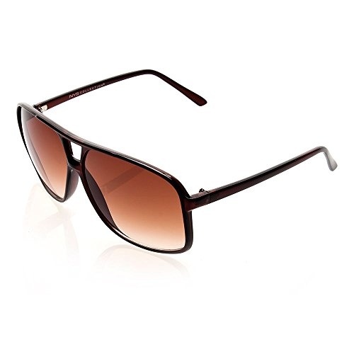 NYS Collection Eyewear Hanover Square Plastic Sunglasses (Brown, Brown)