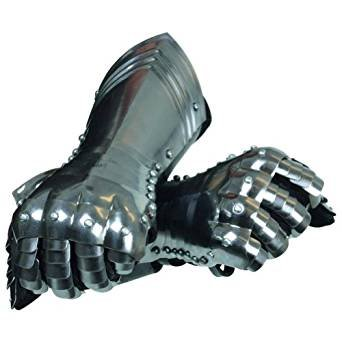 Medieval Warrior Gauntlets - Metallic - One Size Armour by THORINSTRUMENTS