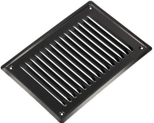 grille de protection contre les insectes ventilation noir laqu/ée KOTARBAU Grille da/ération 230 x 165 mm avec vis