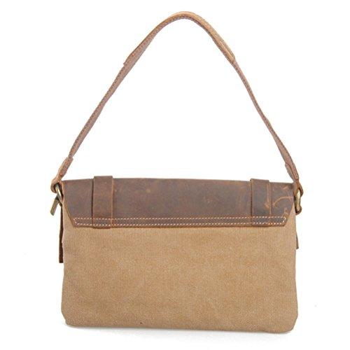 Messenger For Popular Womens Zhhlinyuan Bag Unisex Package Calidad Postman Bags Khaki Mens Shoulder Superior Canvas Ww8SwqxC7