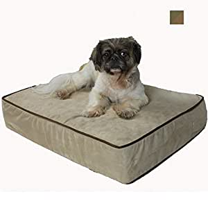 Snoozer Outlast Dog Bed Sleep System 3-Inch Thick, X-Large, Olive/Coffee