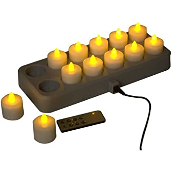 Amazon Com Mr Light Led Rechargeable Tea Lights With