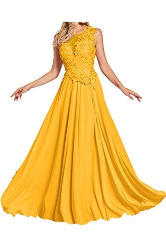 para en Corte Vestido Mujer Trapecio 50 Dorado o Topkleider A Hw6TZx