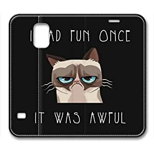 Grumpy Cat Meme Flip Leather Cover for Samsung Galaxy S5 i9600